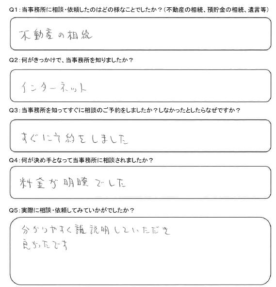 川島町の相続登記